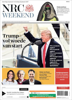 Cover NRC Handelsblad weekendeditie van 21 januari