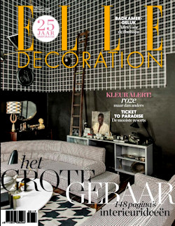 In de woonbladen van januari en februari 2017 for Elle decoration abonnement