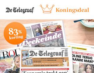 Koningsdeal De Telegraaf 10 Weken De Krant Voor 20 Euro