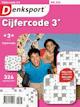 Het puzzelblad Denksport Cijfercode 3*