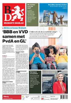 Nederlandse kranten in het roze ter ere van Tom Dumoulin